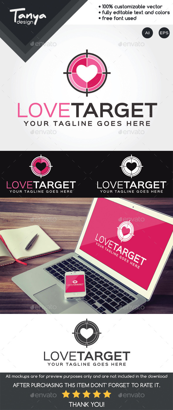 GraphicRiver Love Target Logo Template 10418373