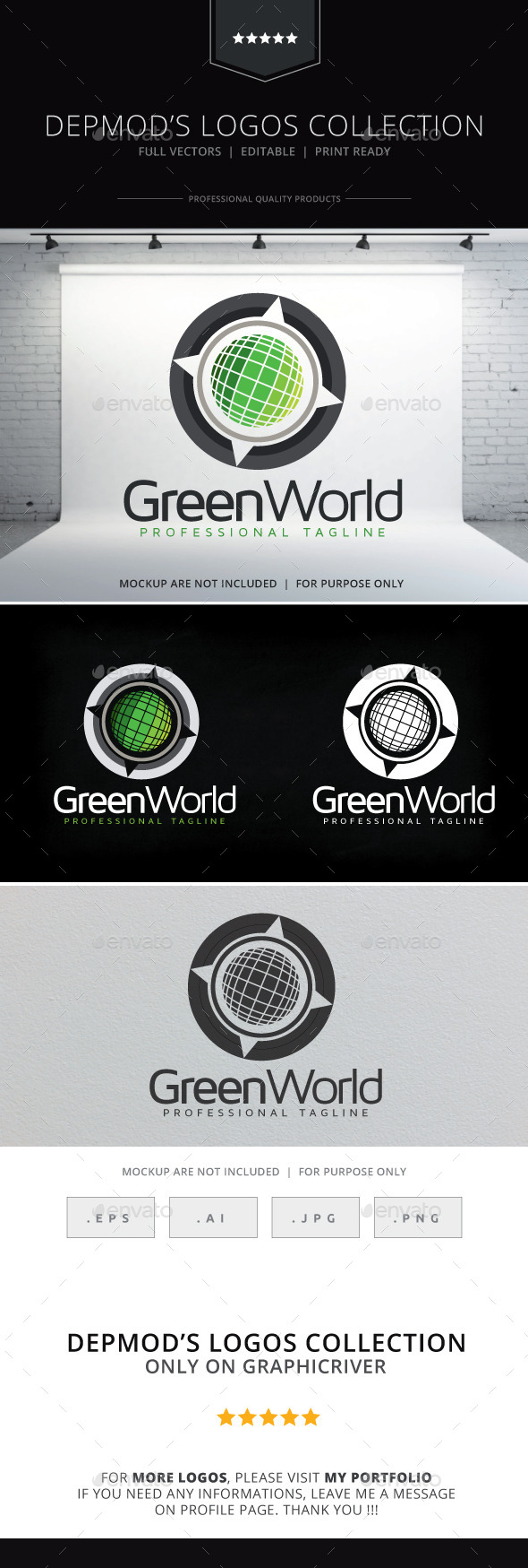 GraphicRiver Green World Logo 10418897