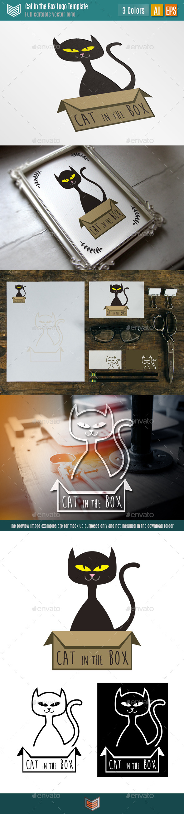 GraphicRiver Cat in the Box II Logo 10419008