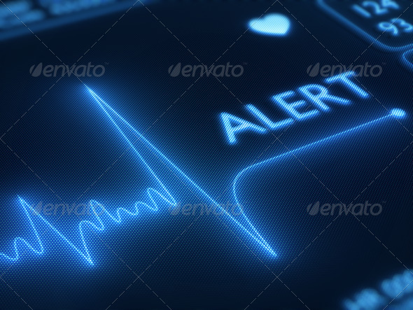 Stock Photo - PhotoDune Flat line alert on heart monitor 1050045