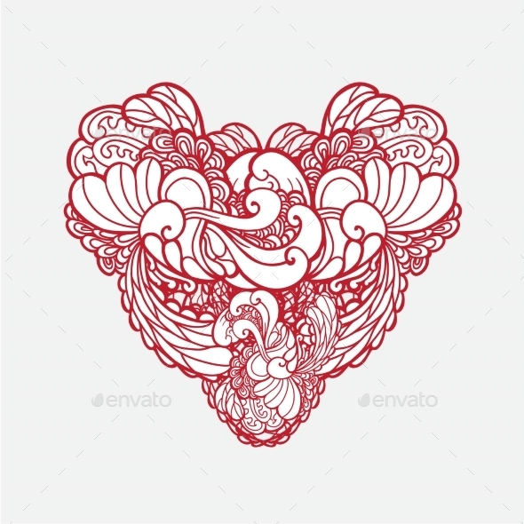 GraphicRiver Ornamental Heart 10419592
