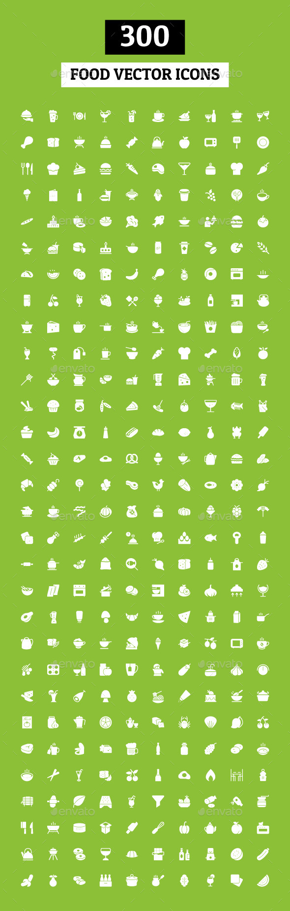GraphicRiver 300 Food Vector Icons 10420052