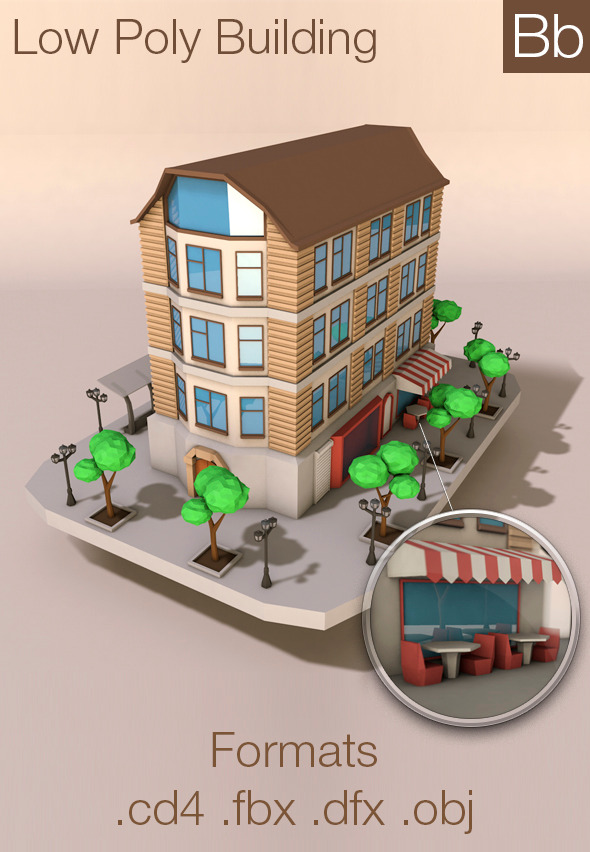 3DOcean Low poly Building 10420242