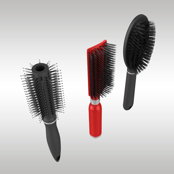 3DOcean Hairbrush Set 10420661