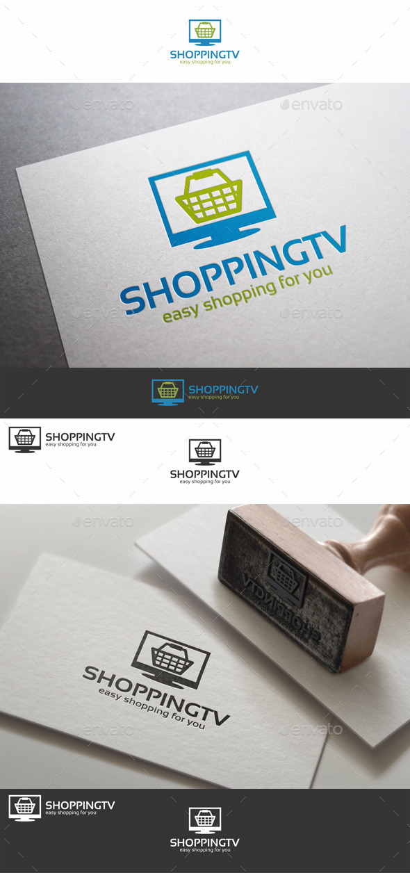GraphicRiver Shopping TV Logo 10420841