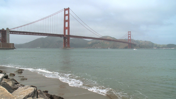 VideoHive Shore View Of Golden Gate 10421716
