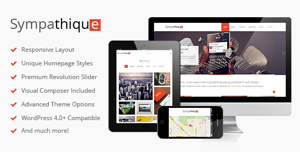 Sympathique - Responsive WordPress Theme - Portfolio Creative