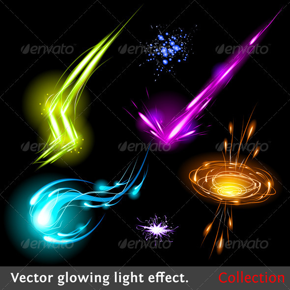 Vector light effects set - Decorative Symbols Decorative
