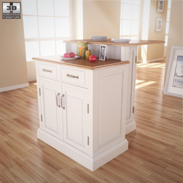 Woodbridge two tier kitchen island 3d model humster3d - Woodbridge Two Tier Kitchen Island Home Styles By Humster3d