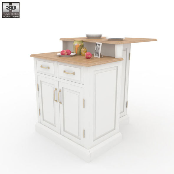 Woodbridge two tier kitchen island 3d model humster3d - Two Kitchen Island Home Styles 590 0001 Jpg 590x590 Woodbridge Two