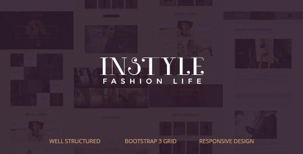 INSTYLE Fashion PSD Template
