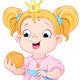 Princess Eats Hamburger - GraphicRiver Item for Sale