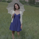 Beautiful Girl With An Umbrella Countryside Spring - VideoHive Item for Sale
