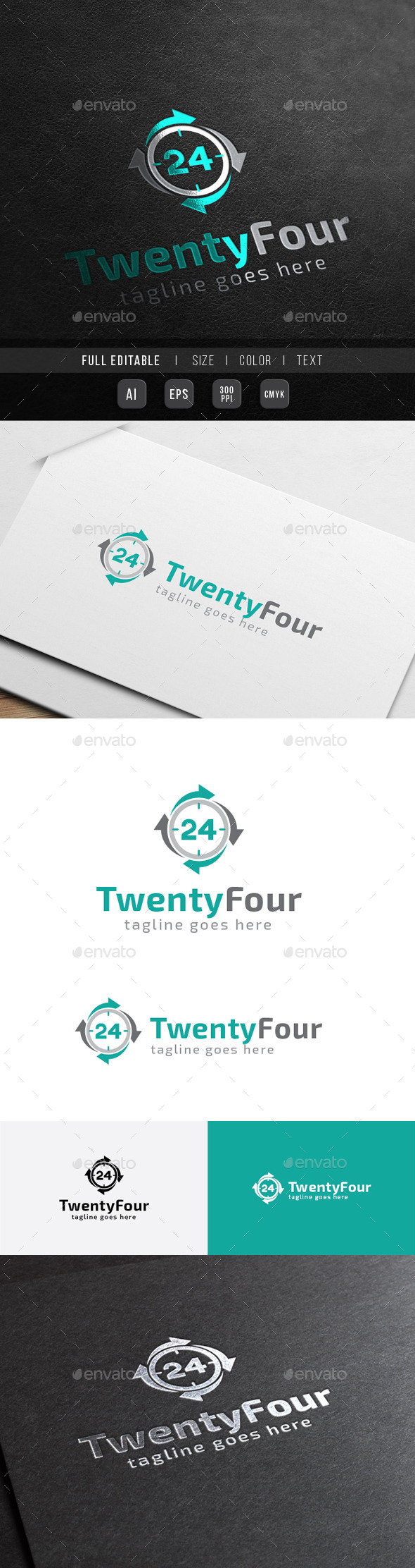 GraphicRiver 24 hour Twenty Four Number Business 10423098