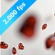 Red Decor Hearts Are Falling On A White Ground - VideoHive Item for Sale