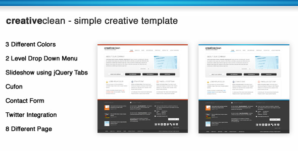 CreativeClean - Simple Creative Template - Preview