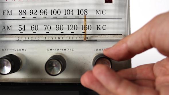 Vintage Radio Dial Changing