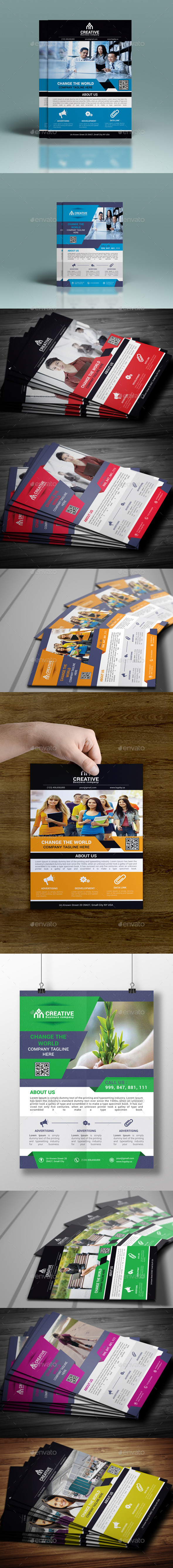 GraphicRiver Corporate Flyer Bundle 10424131