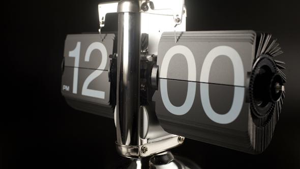 Stop Motion Flip Clock 24