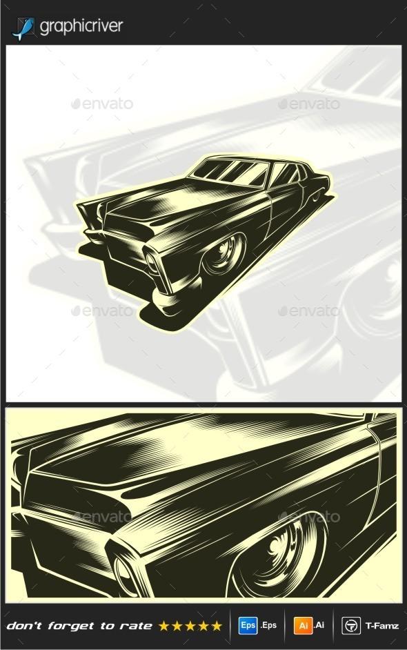 GraphicRiver Classic Car Vector 10424429
