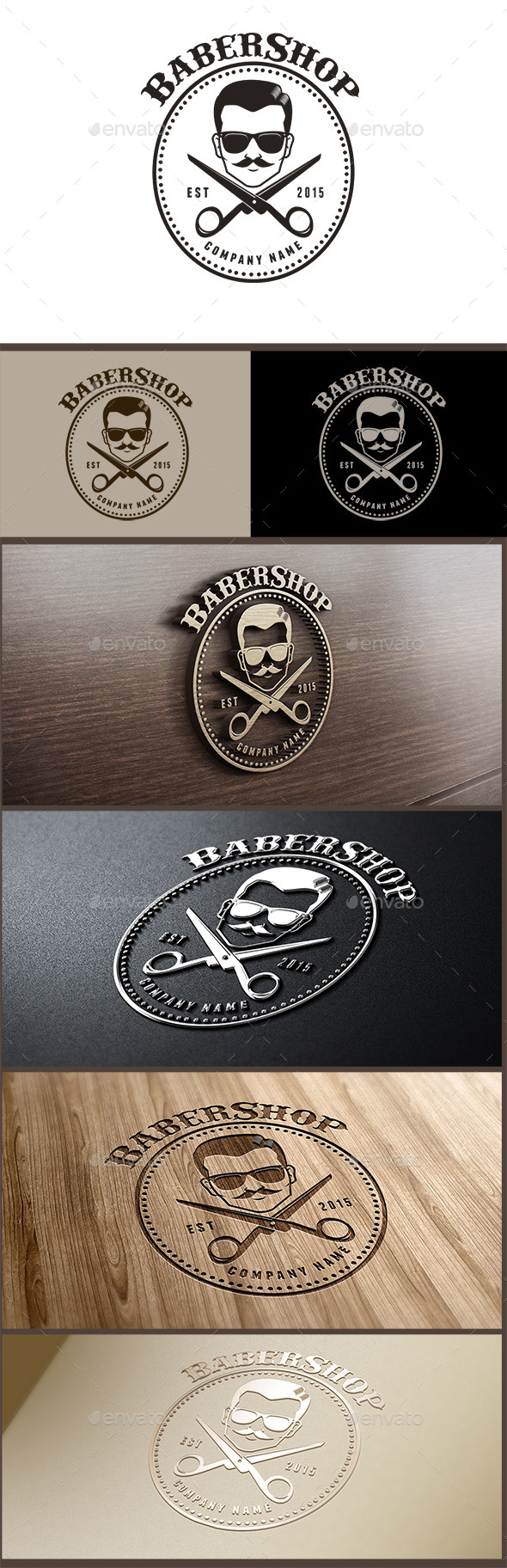GraphicRiver Barbershop Logo 10396316