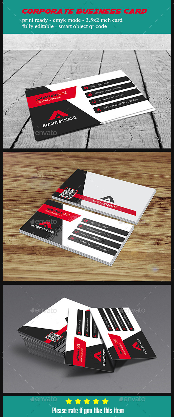 GraphicRiver Corporate Business Card V5 10424494