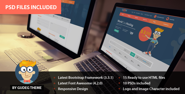 ThemeForest GeekHost Responsive Hosting Company Web Template 10318687