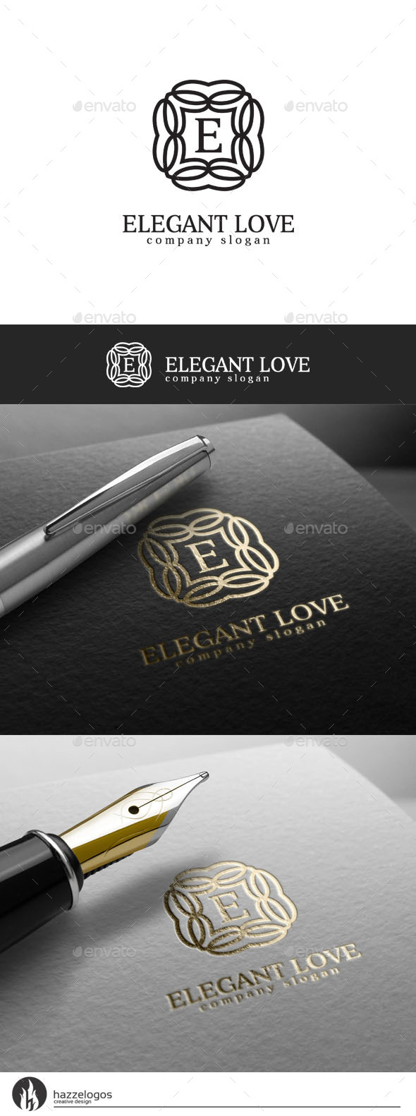 GraphicRiver Elegant Love Logo 10424693