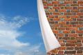 brick cuff on the beautiful panorama of blue sky - PhotoDune Item for Sale