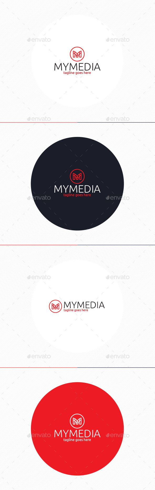 GraphicRiver My Media Logo Letter M 10425063