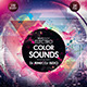 Electronic Color Sounds Party Flyer - GraphicRiver Item for Sale