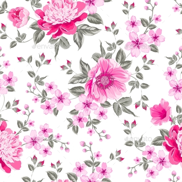 GraphicRiver Peony Pattern 10425688