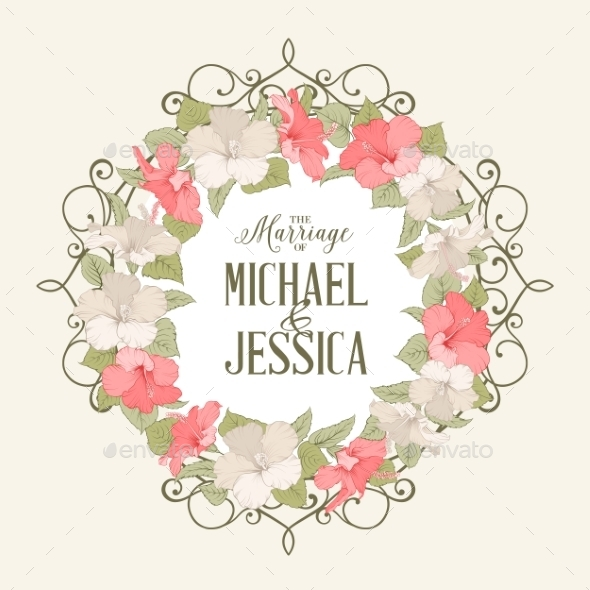 GraphicRiver Rose Mallow Garland 10425704