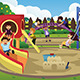 Children Playing in the Playground - GraphicRiver Item for Sale