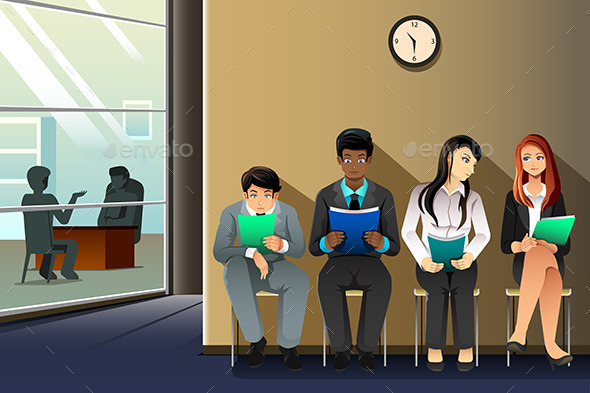 GraphicRiver People Waiting for Job Interview 10425853