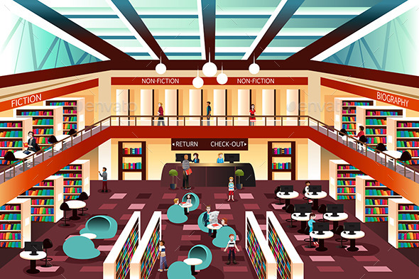 GraphicRiver Modern Looking Library 10425936