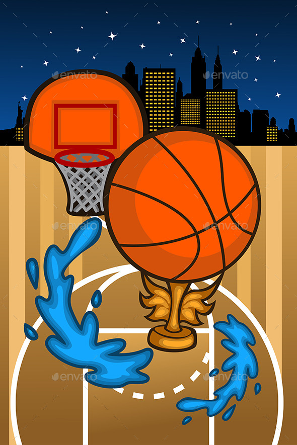 GraphicRiver Basketball Background Template 10425955