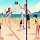 People Playing Volleyball  - GraphicRiver Item for Sale