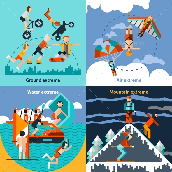 GraphicRiver Extreme Sports Set 10425977