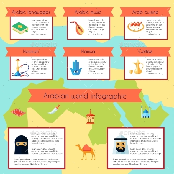 GraphicRiver Arabic Culture Infographic Set 10426041
