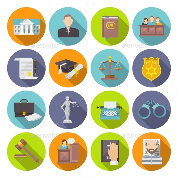 GraphicRiver Law Icon Flat 10426094