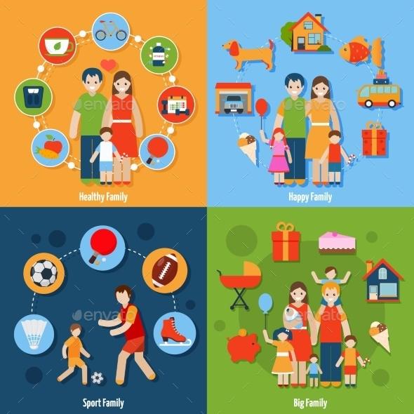 GraphicRiver Family Icons Set 10426171
