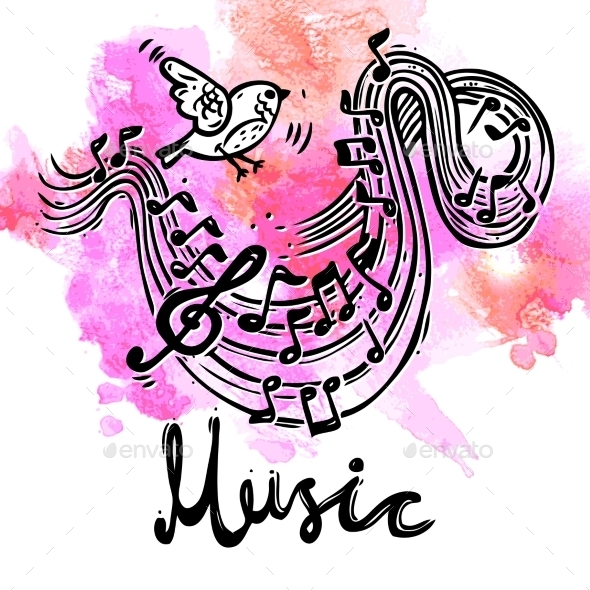 GraphicRiver Music Sketch Background 10426196
