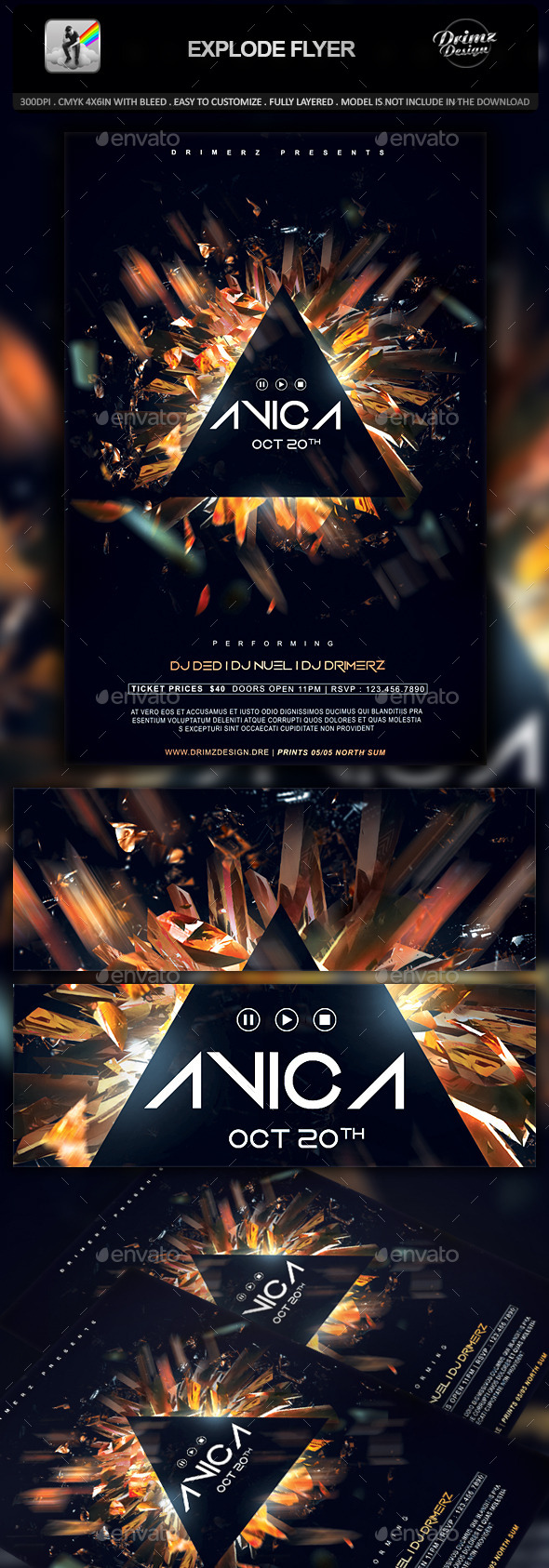GraphicRiver Explode Flyer 10426197