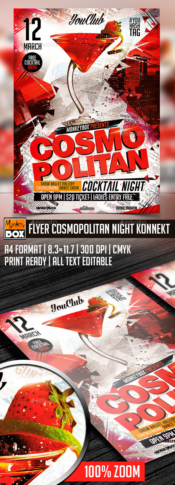 GraphicRiver Flyer Cosmopolitan Night Konnekt 10426203