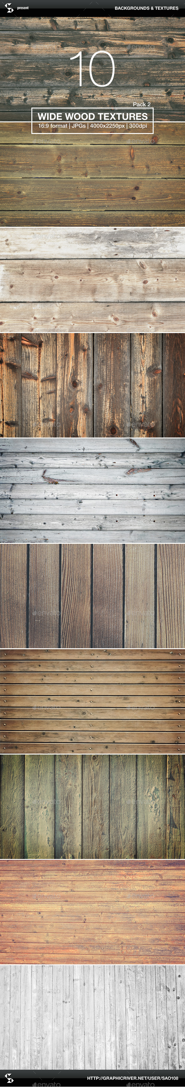 GraphicRiver 10 Wide Wood Textures 2 Wood Backgrounds 10426210