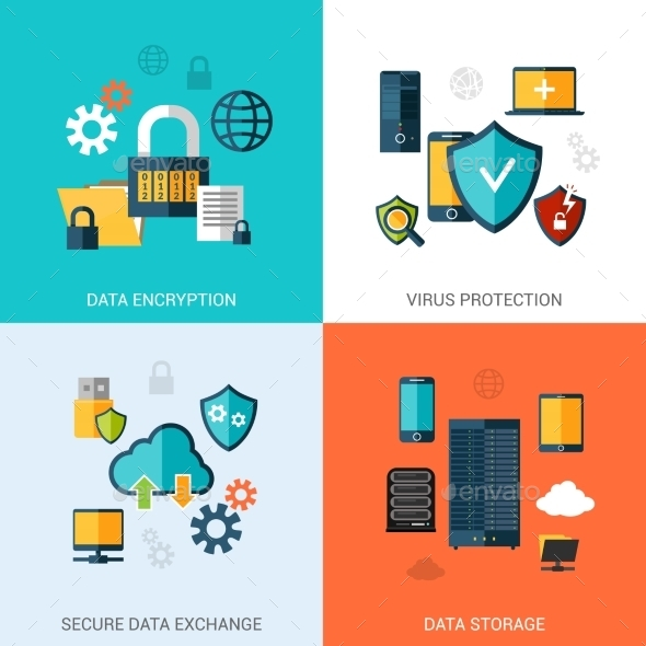 GraphicRiver Data Protection Set 10426247
