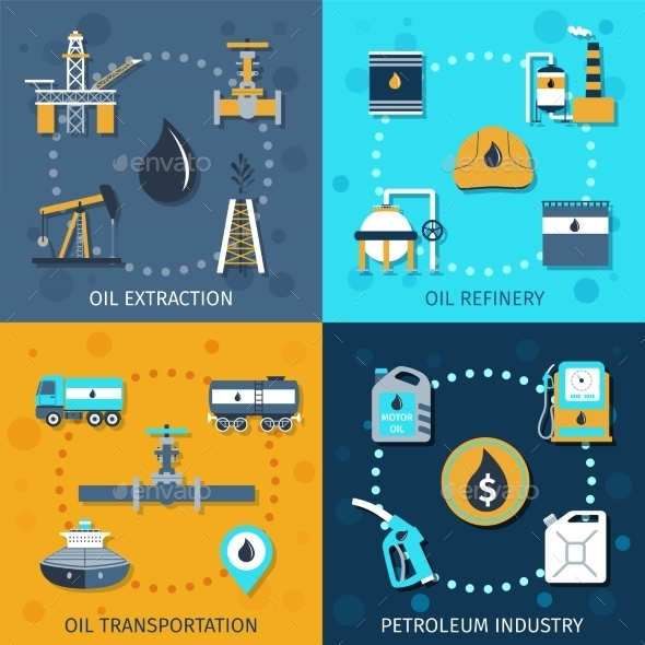 GraphicRiver Oil Industry Set 10426261