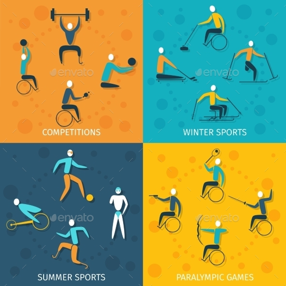 GraphicRiver Disabled Sports Set 10426262