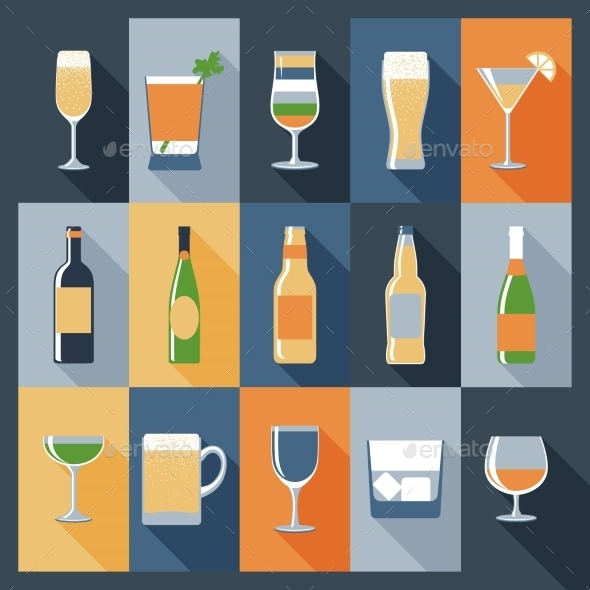GraphicRiver Drink Icons Flat 10426265